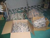 ガルバ材の角スパンを600本以上切りました!